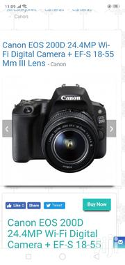 Canon EOS 200D 24.4MP Wi-Fi Digital Camera + EF-S 18-55 Mm III Lens | Photo & Video Cameras for sale in Nairobi, Nairobi Central