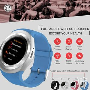 Y1 PLUS Smart Watch With Heart Rate Blood Pressure Monitor - Blue
