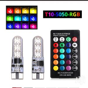 Car Remote Controlled T10 Led RGB Multicolor Bulbs