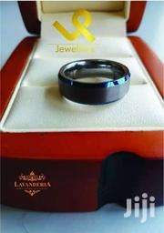 Blue Beavelled Edge Tungsten Carbide Wedding Ring | Jewelry for sale in Nairobi, Lower Savannah