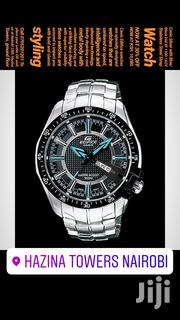 BLACK FRIDAY 40% OFFER!! Casio Silver-blue/Black Dial EF130D1A2V Watch | Watches for sale in Nairobi, Nairobi Central