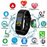 ID115 Plus Smart Bracelet Heart Rate Monitor Watch - Black | Smart Watches & Trackers for sale in Nairobi, Karen