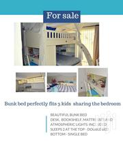 Beautiful Bunk Bed With Mattresses Sleeps 2 At The Top & 1 Under   Furniture for sale in Mombasa, Bamburi