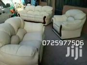 White Leather. Replaced_link | Furniture for sale in Nairobi, Ziwani/Kariokor
