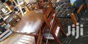 4seater Dinning Table Made of Pure Mahogany Wood   Furniture for sale in Nairobi, Embakasi