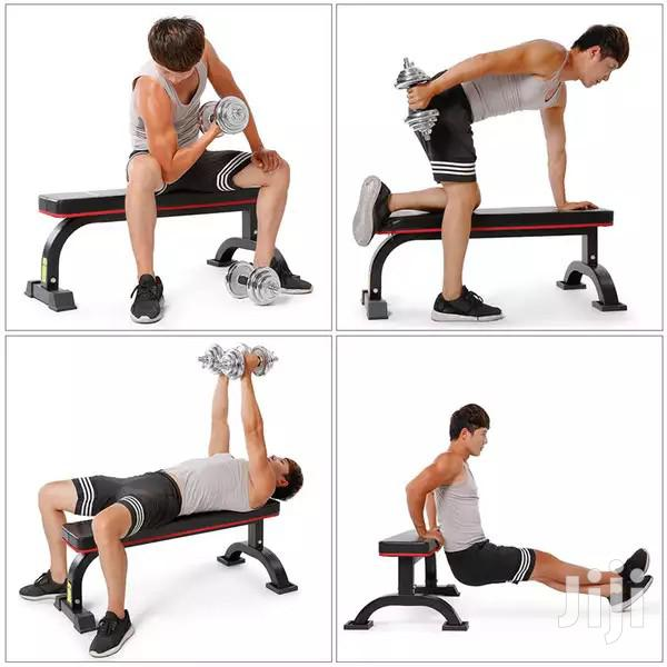Gym Dumbbells Flat Benches
