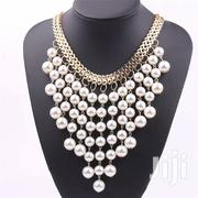Fashion Beads Gold Chocker Collar Necklace Simulated Pearl Necklaces | Jewelry for sale in Nairobi, Nairobi Central