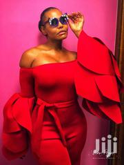 Red Jumpsuit With Tullip Bell Sleeves | Clothing for sale in Nairobi, Embakasi