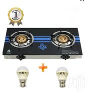 Nunix Tempered Glass Gas Stove Double Burner +Two Free LED Bulb 3W | Kitchen Appliances for sale in Nairobi, Airbase