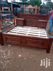Wooden Bed King Size With Two Sidetables | Furniture for sale in Nairobi, Karen