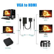 VGA to HDMI + USB Audio Video Cable Adapter Converter | Accessories & Supplies for Electronics for sale in Nairobi, Nairobi Central