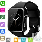 2019 Smartwatch Bluetooth Sim Memory Card Slot Mpesa Black | Smart Watches & Trackers for sale in Nairobi, Nairobi Central