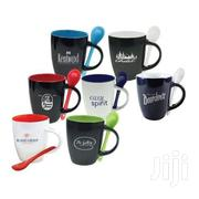 Duo Tone Ceramic Mug With Spoon | Other Services for sale in Nairobi, Nairobi Central