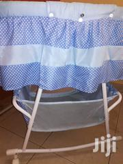 Blue Polka Dotted Baby Cot With Wheels And A Net | Children's Gear & Safety for sale in Nakuru, London