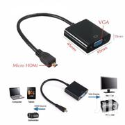 Micro HDMI To VGA Video Converter Adapter Cable | Accessories & Supplies for Electronics for sale in Nairobi, Nairobi Central