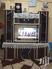 """A Very Neat And Beautiful Wall Unit Can Accommodate A 40"""" Tv Screen 