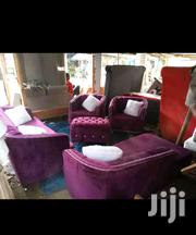 Sofa Set 7seater In This Design Plus Poof Made On Order. | Furniture for sale in Nairobi, Ngara