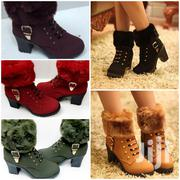 Cute Lady Heel Ankle Fur Boots | Shoes for sale in Nairobi, Roysambu
