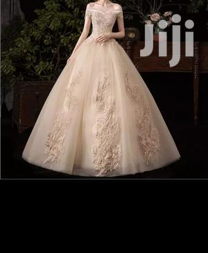 Jossy Bridepride Collections Champagne Ball Gown Off Shoulder