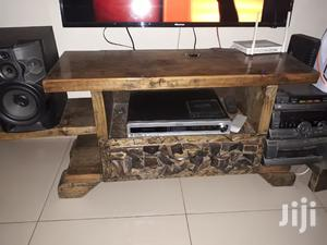 Striped Pine TV Stand