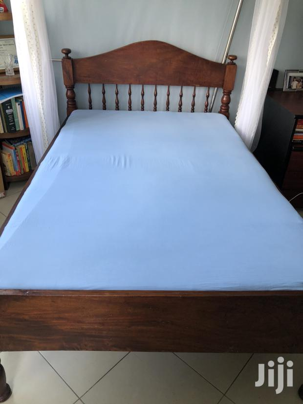 Archive: Mvule Bed 6x4 With Mattress and Mosquito Net