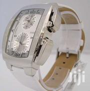 Guess Quartz Chronograph White Leather Watch | Watches for sale in Mombasa, Tononoka