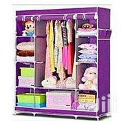Portable Wooden Frame Wardrobe 3 Columns - Purple | Furniture for sale in Nairobi, Nairobi Central