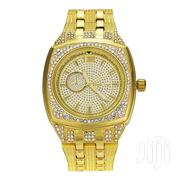 Men'S 18K Gold Finish Big Heavy Faux Diamond Bling Watch | Watches for sale in Mombasa, Majengo