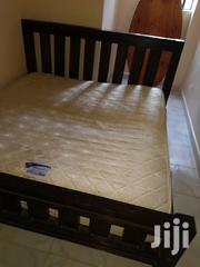 6 By 6 Mahogany Bed & Spring-orthopaedic Mattress For Sale | Furniture for sale in Nairobi, Nairobi South