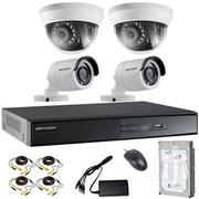 4 Hik Vision Dome And Bullet Complete Setup And Installation | Photo & Video Cameras for sale in Nairobi, Nairobi Central