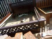 5 by 6 Simple Bed in Mahogany Timber | Furniture for sale in Nairobi, Makongeni