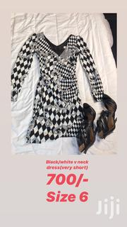 Black/White v Neck Dress | Clothing for sale in Nairobi, Nairobi Central