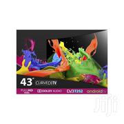 "Vision Plus - 43"" - FHD Smart Curved Android LED TV - Black + 