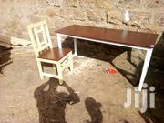 Metallic Study Table With a Wooden Chair | Furniture for sale in Nairobi, Kitisuru