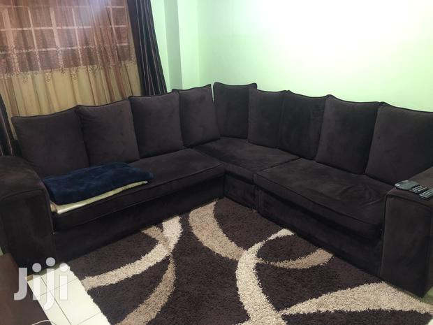 Archive: Coffee Brown 7seater.Material Is Velvet.