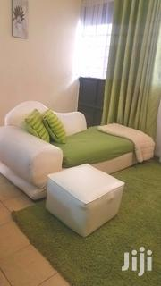 White Leather Sofabed With Leg Rest | Furniture for sale in Nairobi, Riruta