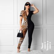Fashion RK Double Trouble Zip-Up Stretch Leopard Jumpsuits | Clothing for sale in Nairobi, Nairobi Central