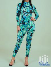 Fashion RK High Neck Tight Stretch Camo Jumpsuits | Clothing for sale in Nairobi, Nairobi Central