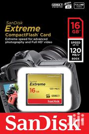 Sandisk Extreme 16GB Compactflash Memory Card Up to 120mb/S | Accessories for Mobile Phones & Tablets for sale in Nairobi, Nairobi Central