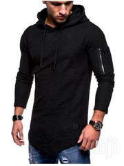 Men Tshirt With Hood Black,White,Khaki | Clothing for sale in Nairobi, Nairobi West