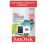 Original 64gb Memory Card With One Year Warranty | Accessories for Mobile Phones & Tablets for sale in Nairobi, Nairobi Central