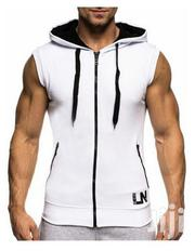 Men Gym Tank Top White Hoodie | Clothing for sale in Nairobi, Nairobi West