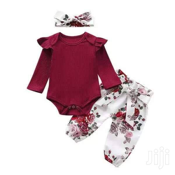 Archive: Fashion 3pcs Baby Girls Ruffle Solid Romper Bodysuit 15-24 Months