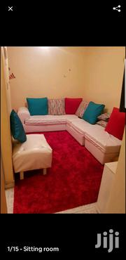 7 Seater White Leather Sofas In Good Condition With Poof | Furniture for sale in Nakuru, London