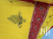 Indian Yellow Red Embroded Saree | Clothing Accessories for sale in Mombasa, Shimanzi/Ganjoni