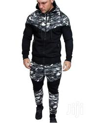 Camo Full Track Suit Black-gray | Clothing for sale in Nairobi, Nairobi West