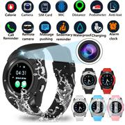 Men Women Bluetooth Smart Watch V8 SIM Slot Round Touch Screen | Smart Watches & Trackers for sale in Nairobi, Kahawa West