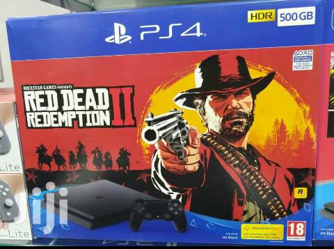 Ps4 Sony Slim With Red Dead Redemption 2