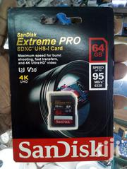 Sandisk 64GB SDXC SD Extreme Pro Memory Card | Accessories for Mobile Phones & Tablets for sale in Nairobi, Nairobi Central