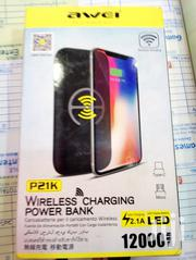 Awei P21K 12000mah Wireless Charging Power Bank | Accessories for Mobile Phones & Tablets for sale in Nairobi, Nairobi Central